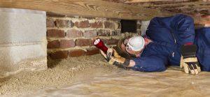 Insulating the crawlspace