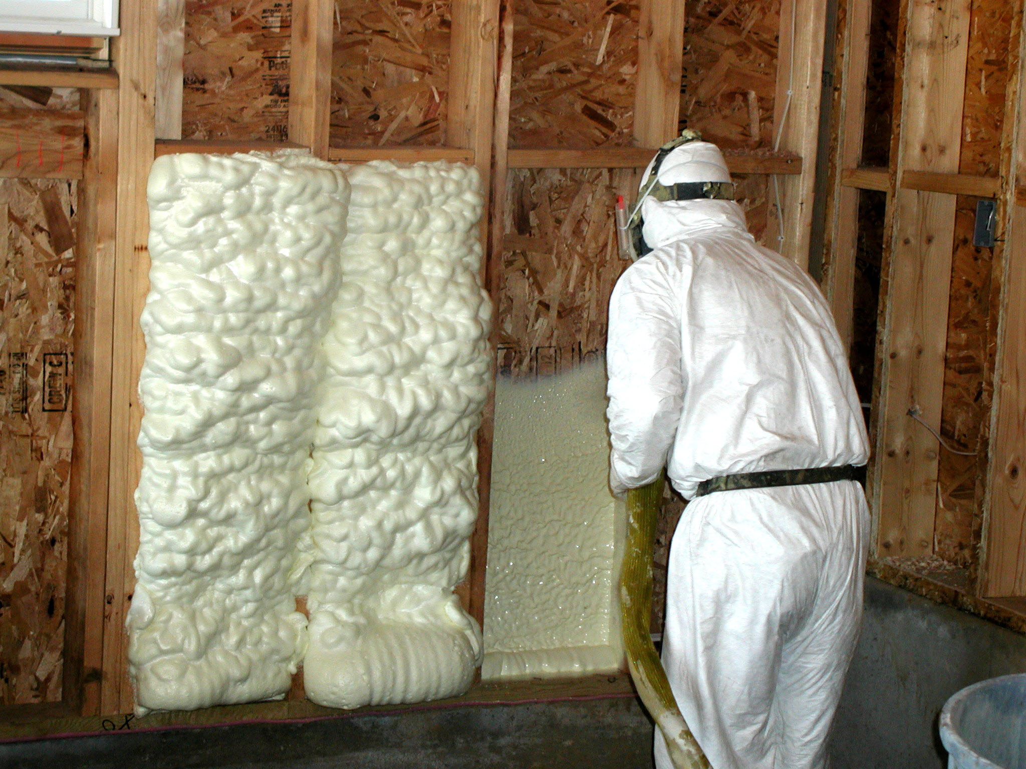 Energy saving tip: Spray Foam Insulation to keep the cool air in this summer.