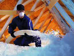 A picture of blown-in insulation contractor in Maryland