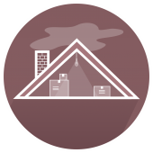 Attic Icon for Spray Foam Insulation